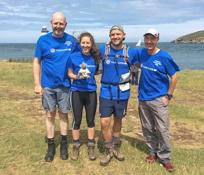Tim, Jamie, Dan and Ellen walked round Anglesey for Vasculitis UK, raising an amazing £1511